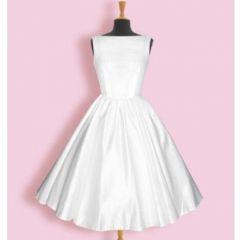 rockabilly taftové krátké svatební šaty retro - plesové šaty, svatební šaty, společenský salón