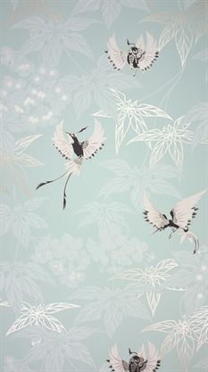 Grove Garden blue Exquisite designer wallpapers and wallcoverings by Osborne & Little, Nina Campbell and Lorca