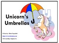 """Alphabet Sight Word Reader  Unicorn's Umbrellas - """"Uu"""" Focus Letter"""
