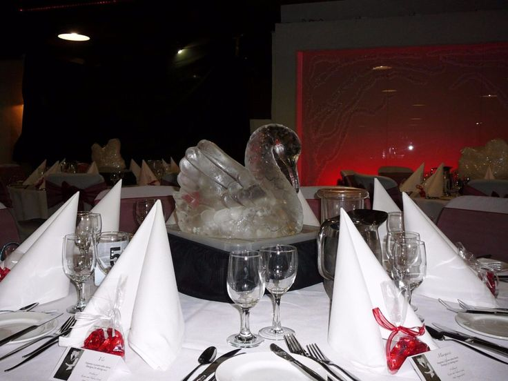 table deco swan champagne