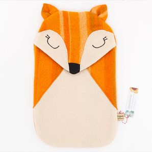 Hot water bottle covers in retro designs.