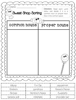 FREEBIE! Common & Proper Noun Sort