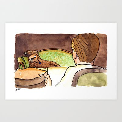 Draw me like one of your French Sloths Art Print by Shitty Watercolour - $22.88