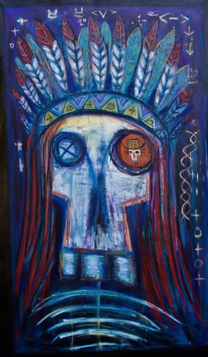 """""""Dead Indian"""" by Raw Art by Kelly Moore"""