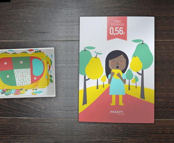 MUYUM alimentos saludables para niños de marca y diseño editorial de TATABI de estudio, a través de Behance