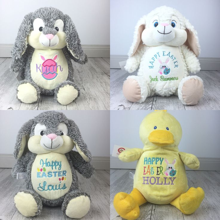 Some of our personalised  Easter Teddies that we sent out last week :)