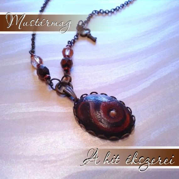 Mustard seed necklace Faith Art with own hand painting