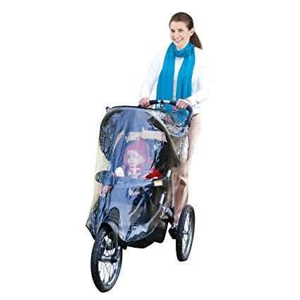 J is for Jeep Jogging Stroller Weather Shield, Baby Rain Cover, Universal Size to fit most Jogging Strollers, Waterproof, Windproof, Ventilation,Protection,Shade,Umbrella,Pram,Vinyl,Clear,Plastic