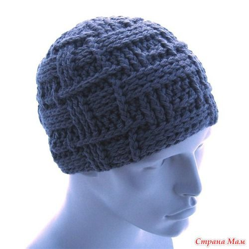 """В мой он-лайн Здравствуйте дорогие СМ, приглашаю всех связать для наших мужчин шапочки на зиму. Опрос проводился здесь http://www.stranamam.ru/  Вот еще одна шапочка """"Мистера Икс"""""""
