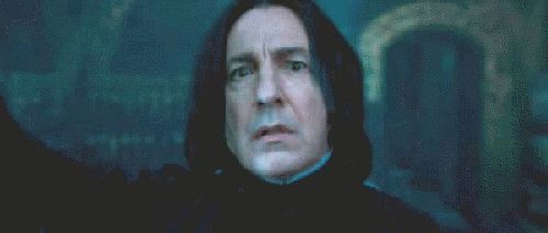Severus Snape's Eye through Harry's Protego spell