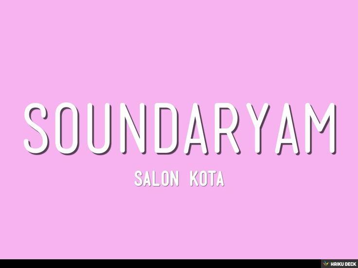 Soundaryam by saundaryam via slideshare