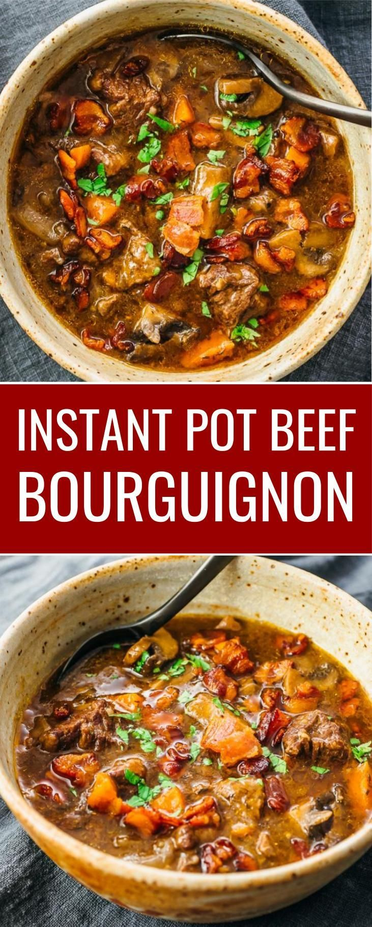 Instant Pot Beef Bourguignon Savory Tooth Beef Bourguignon Pot Recipes Recipes