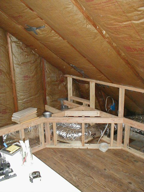 attic remodel that covers hiding air ducts.
