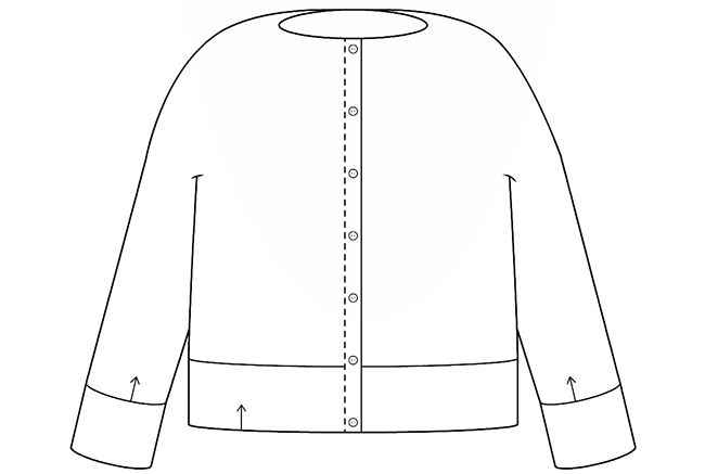 Cardigans for first-timers: Or, how button bands happen