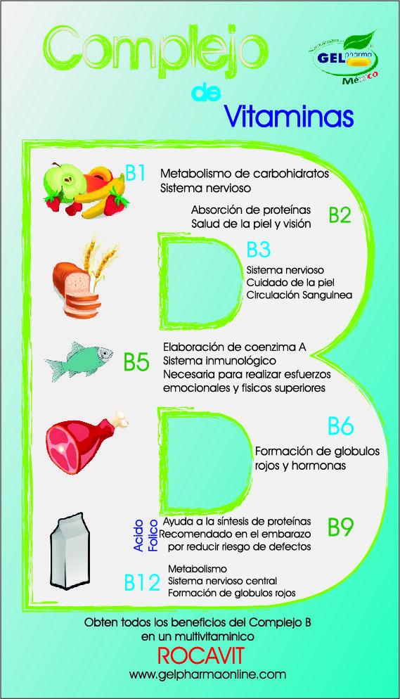 Descripción de las vitaminas que integran el Complejo B y los beneficios que aportan a la salud
