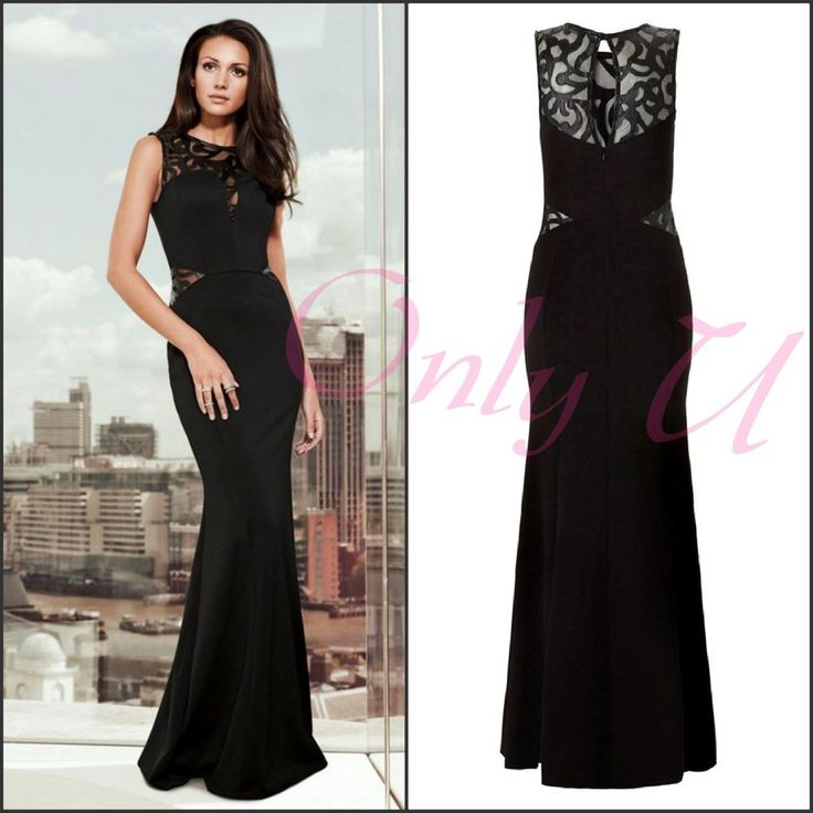 Sexy Women's Sleeveless Mermaid Maxi Black Cut Out Long Evening Elegant Dress