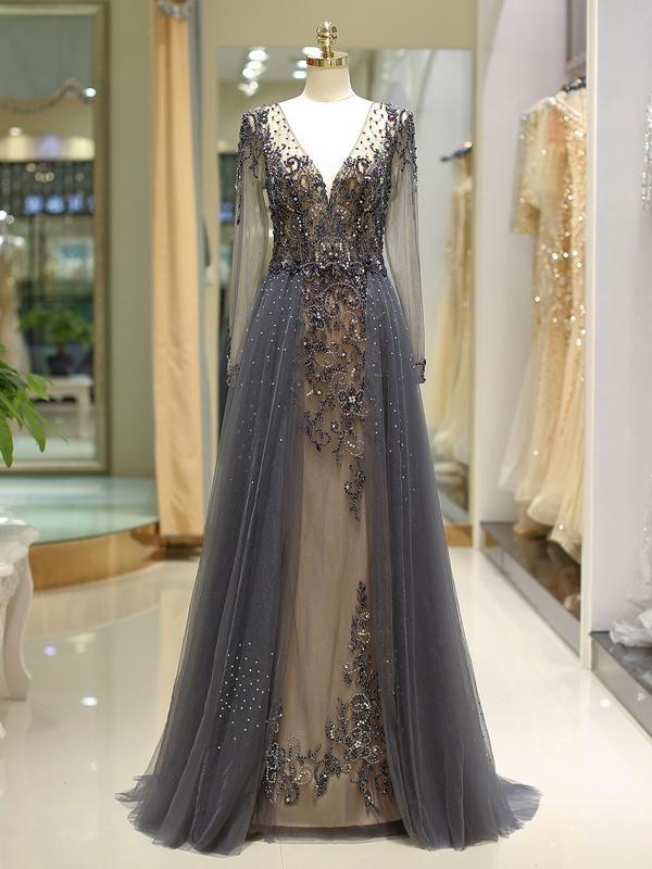 0250e4da190 Laceshe Women s Long Sleeve Evening Dress