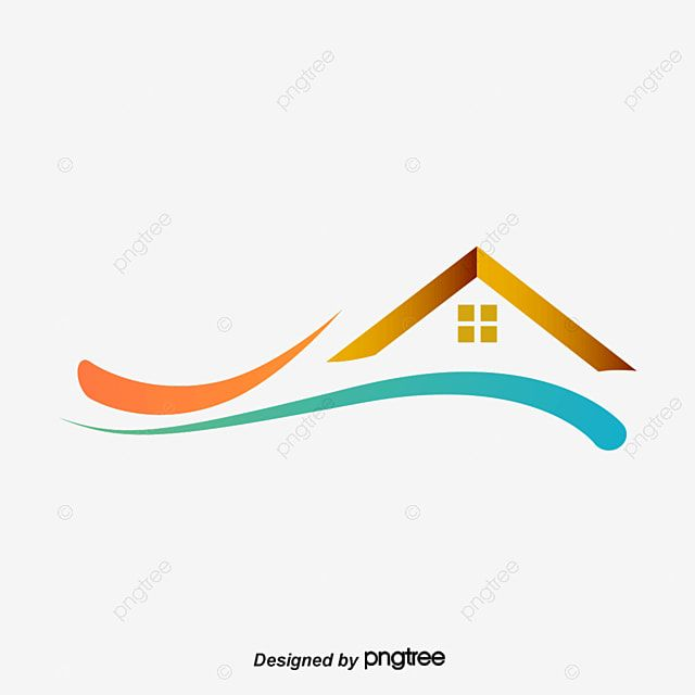 Simple Color Home Logo Vector Illustration Color Vector Home Vector Vector Png Transparent Clipart Image And Psd File For Free Download Vector Logo Home Logo Logo Design Template