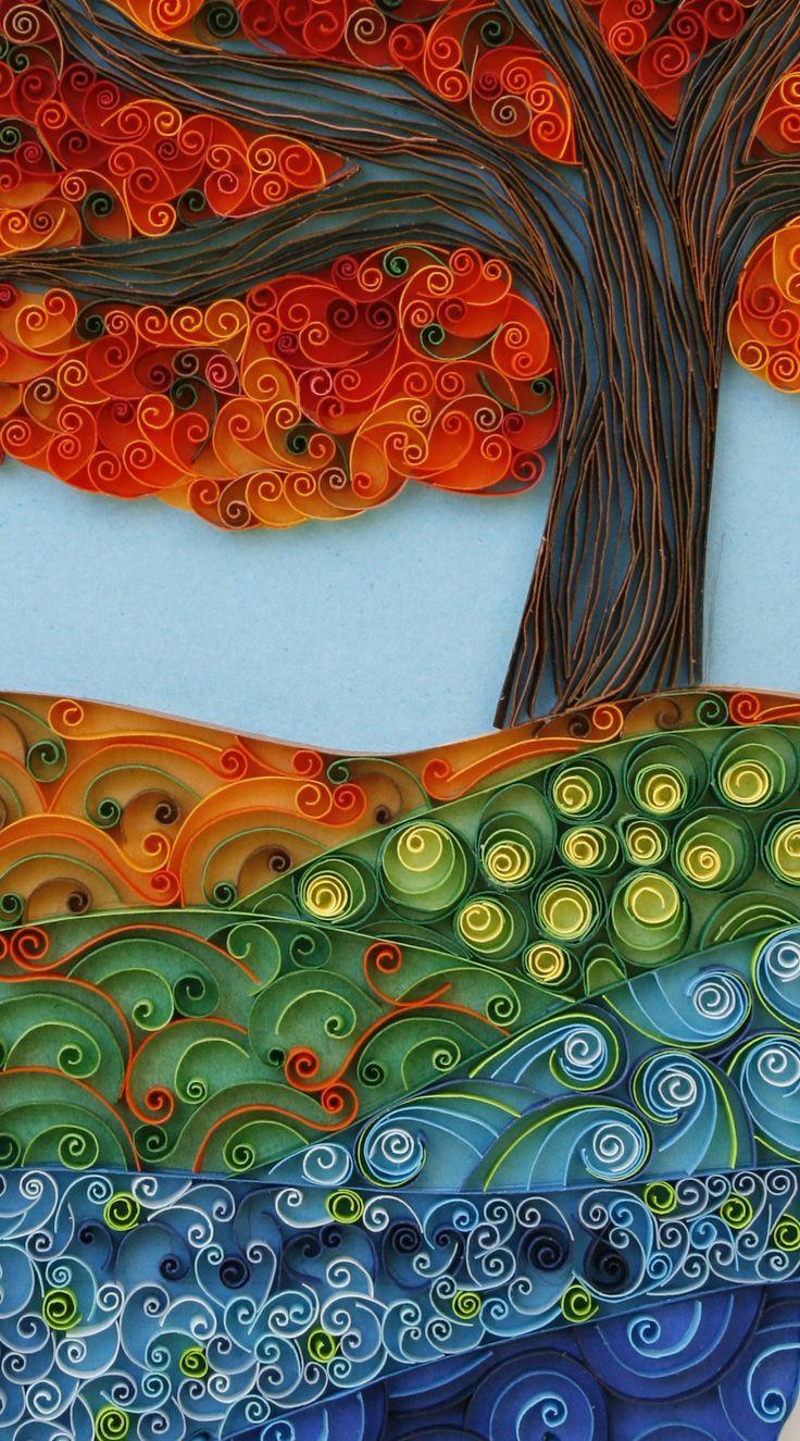 #quilling art by Sari Wurtman