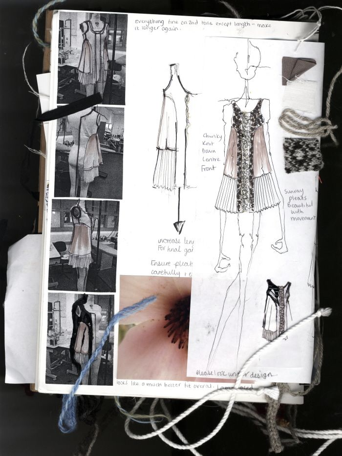 Fashion Designer's Sketchbook | Design references, fashion sketches, swatches & development