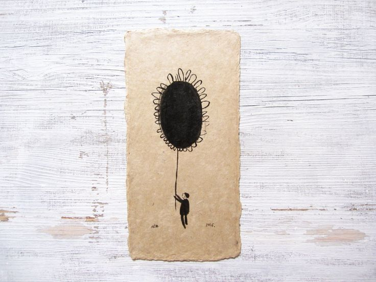minimalist abstract ink art, ORIGINAL ink drawing, abstract sunflower art, ink illustration, contemporary art,  natural art, handmade paper by vickyalvarezart on Etsy https://www.etsy.com/listing/484420135/minimalist-abstract-ink-art-original-ink