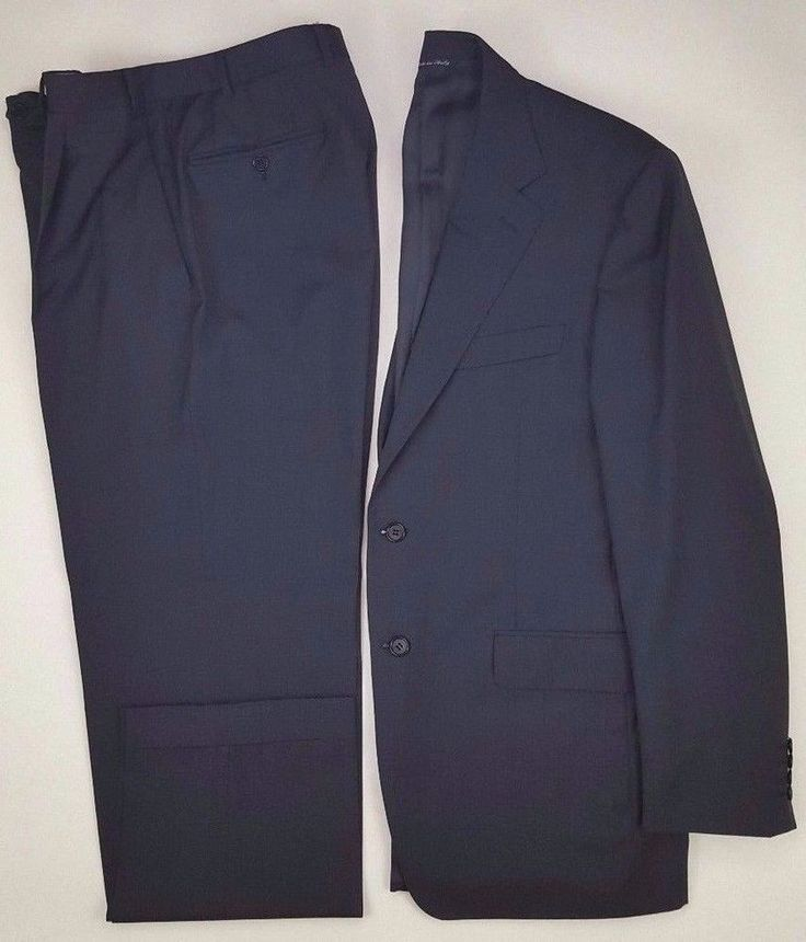 CANALI Suit 40R Gray 2 BUTTON Mens WOOL 13290 Size SZ Italy REGULAR Lined VENTED #Canali #TwoButton