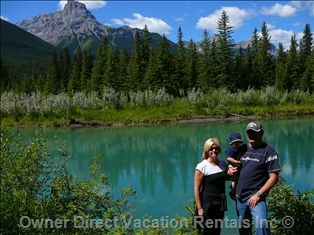 Bow River Three Sisters Hiking near Banff National Park