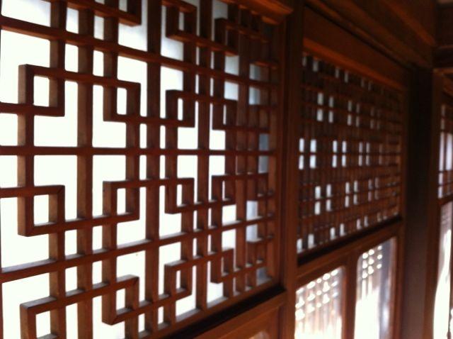 日本の伝統、建具の細工