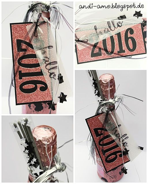 andi-amo Flaschen-Deko zu Silvester auf www.andi-amo.blogspot.de #Stampin Up…