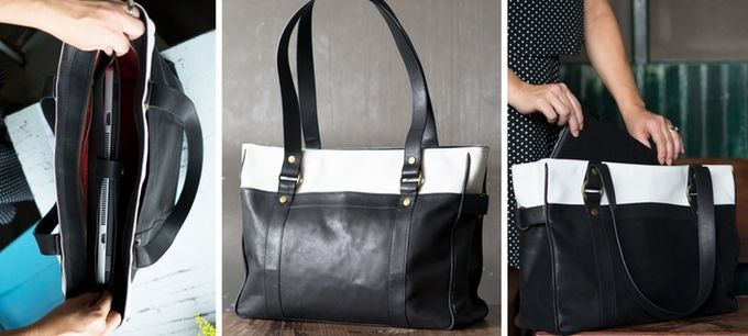 This laptop bag for women is stylish, roomy and versatile.