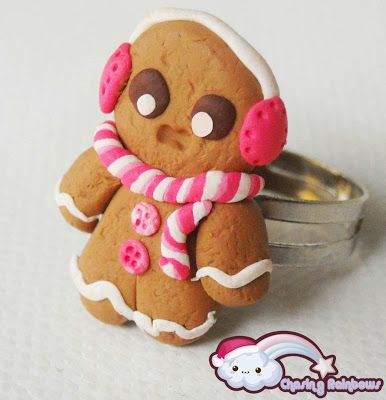 Profumo di neve - Anello Gingerbread Man #xmas #kawaii #cute #sweet #handmade #jewels