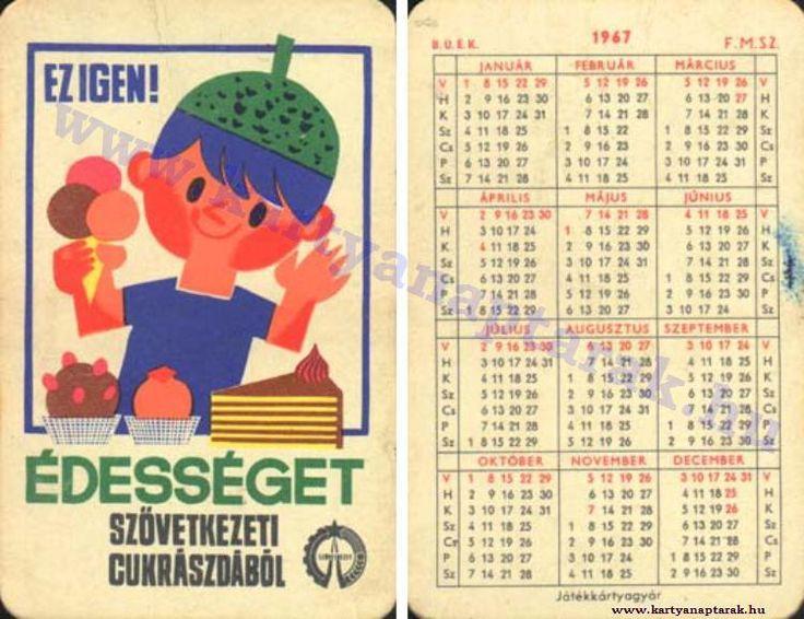 1967 - 1967_0116 - Régi magyar kártyanaptárak