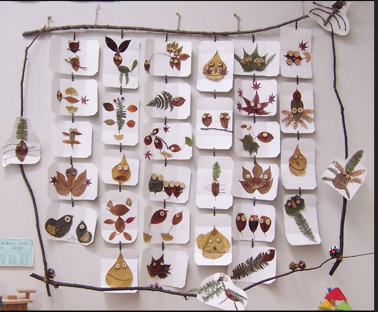 Leaf Creatures. Children's Artwork Exhibit, Mie Museum, Japan, 2006