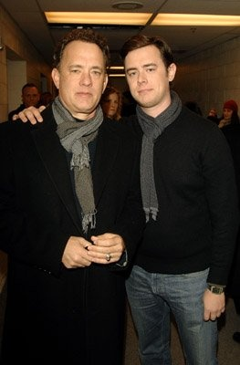Tom and Colin Hanks...they look EXACTLY THE SAME if you look closely