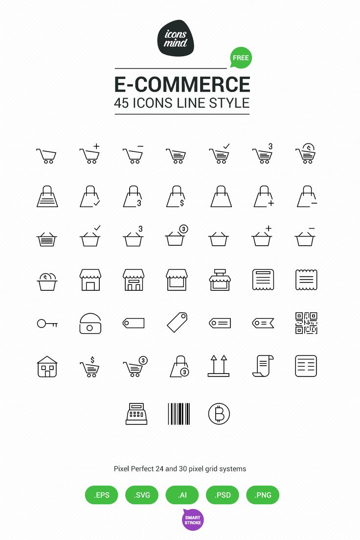 Free 45 E-Commerce icons