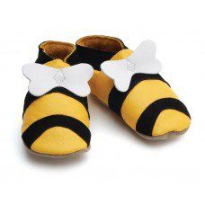 Hunni Bee Yellow Soft Leather Baby Shoes Made and supplied by Star Child Shoes in #Leicestershire - £18.00