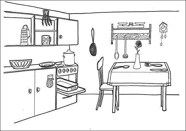 Situační obrázky - Domov a kuchyně