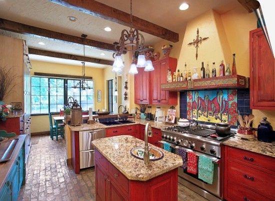 Кухня в мексиканском интерьере