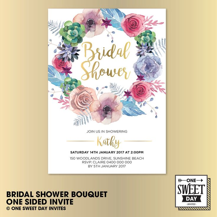 A personal favourite from my Etsy shop https://www.etsy.com/au/listing/490481797/bridal-shower-printable-invite-flower