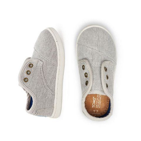 Toms Grey Chambray Tiny Paseos - mini mioche - organic infant clothing and kids clothes - made in Canada