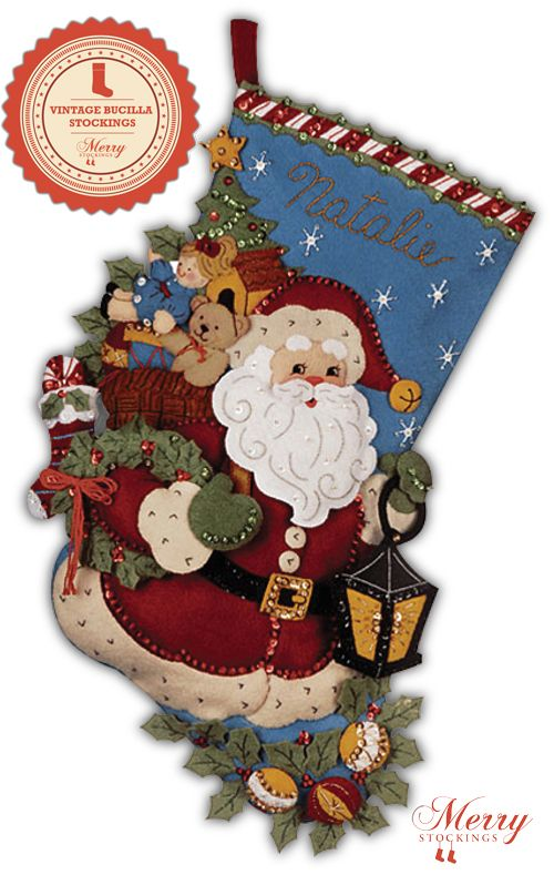 """Bucilla Christmas stocking kit entitled """"Christmas Joy"""". Kit is part of MerryStockings vintage line of goods and will be available on March 1st."""