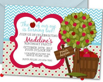 Items similar to Apple Of My Eye Party Package / Apple Of Our Eye / Apple Invitation / Apple Party / Apple Invite / Apple Of My Eye Birthday / 1st Birthday on Etsy