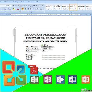 Download Pemetaan SK dan KD Tiap Mata Pelajaran Jenjang SMA Kelas XI Lengkap Format MS. Office Word Gratis