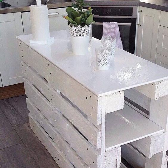 re purposed wood pallet kitchen island