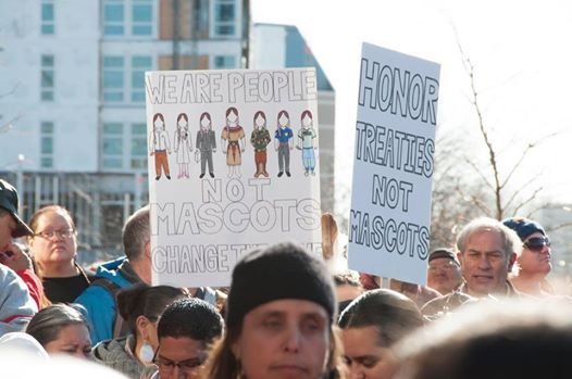 #NotYourMascot #ChangeTheName #NoHonorInRacism Rally Against Washington Football Team at @FedEx Field