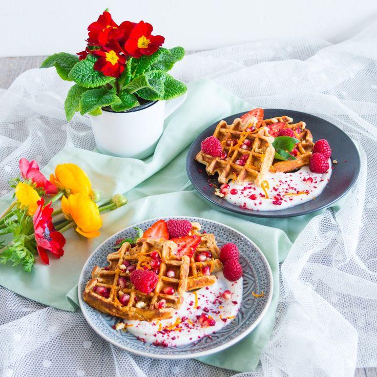Ricotta waffles à la carrot cake