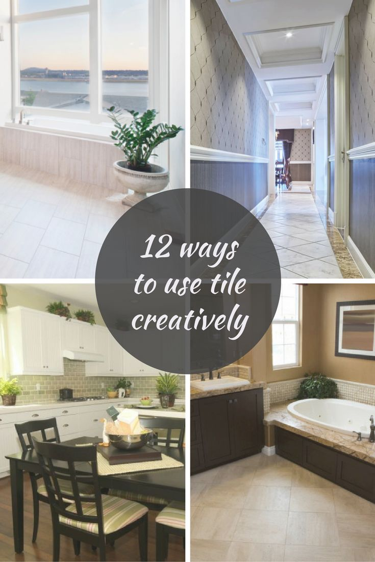 21 best life at home images on pinterest salems lot bathroom 12 ways to use tile creatively in your home dailygadgetfo Choice Image