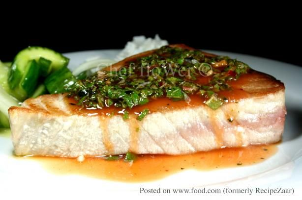 THAI CUISINE RECIPES | Tuna Swordfish Steaks With Thai Dressing Recipe - Food.com - 258664