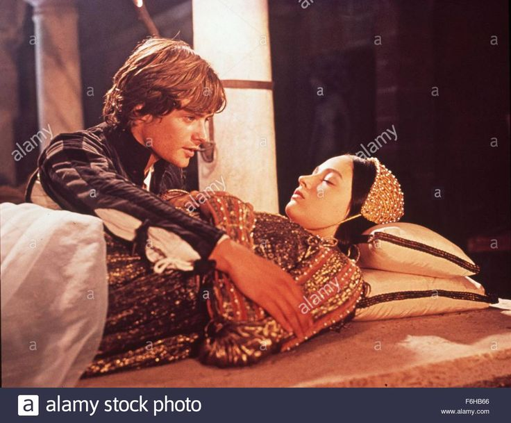 Download this stock image 1968 film title romeo and