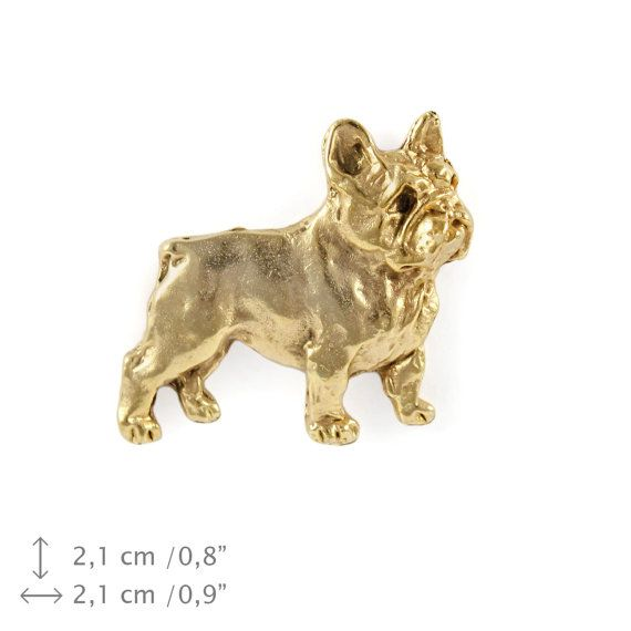 French Bulldog millesimal fineness 999 dog pin by ArtDogshopcenter